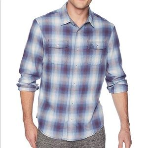 Original Penguin Blue Plaid Button-Down Shirt